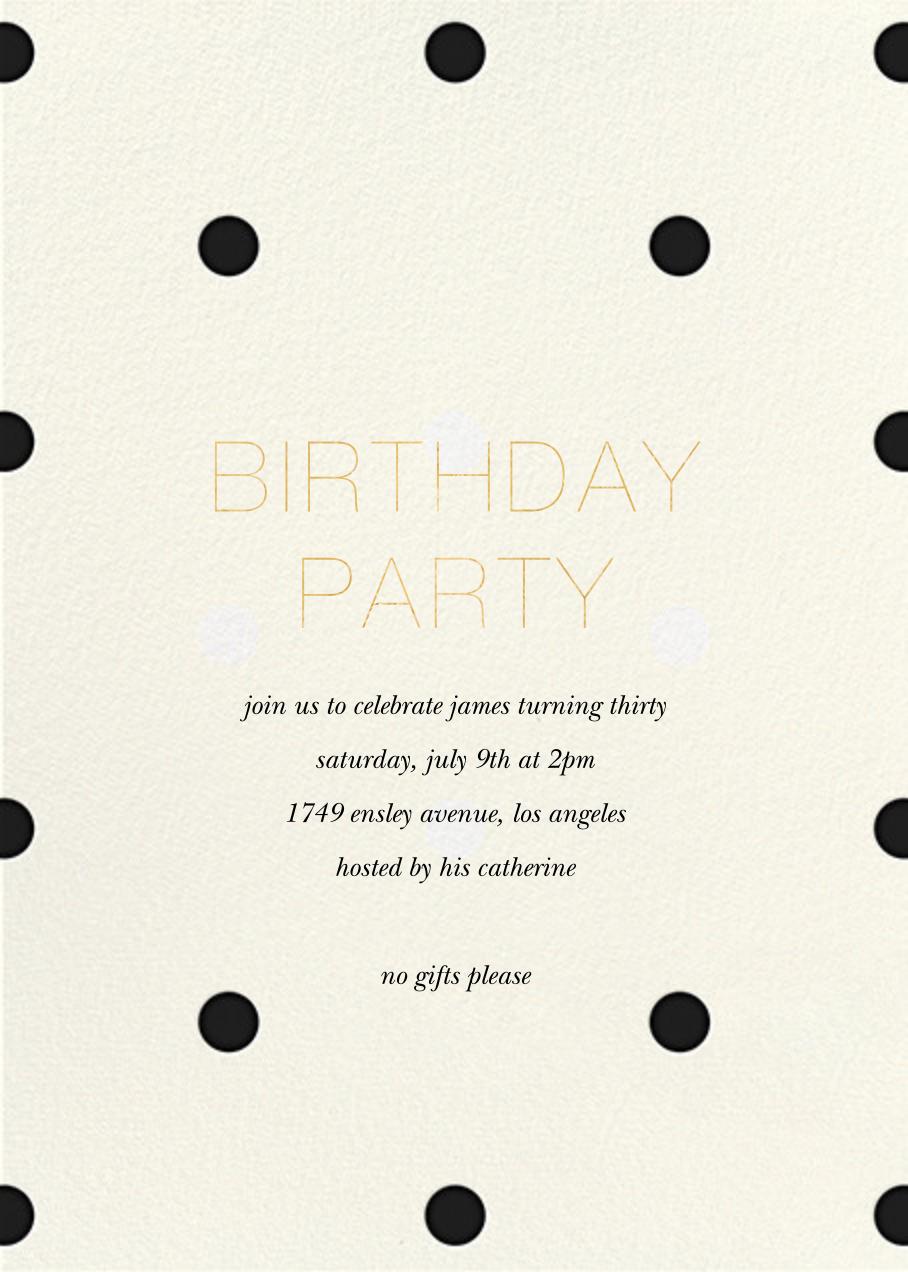 Diadem Dots - Black - Sugar Paper - Adult birthday