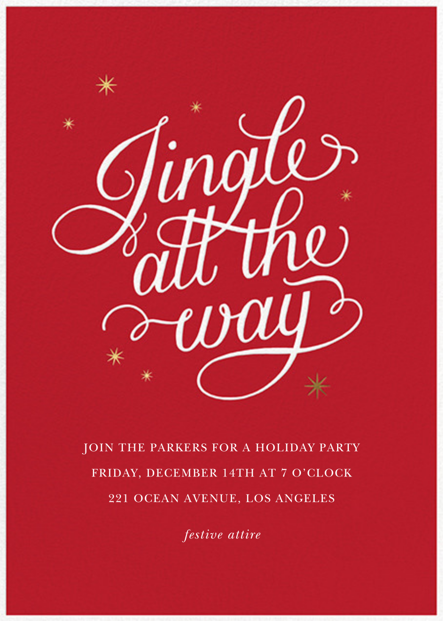Jingle and Sparkle - Sugar Paper - Christmas party