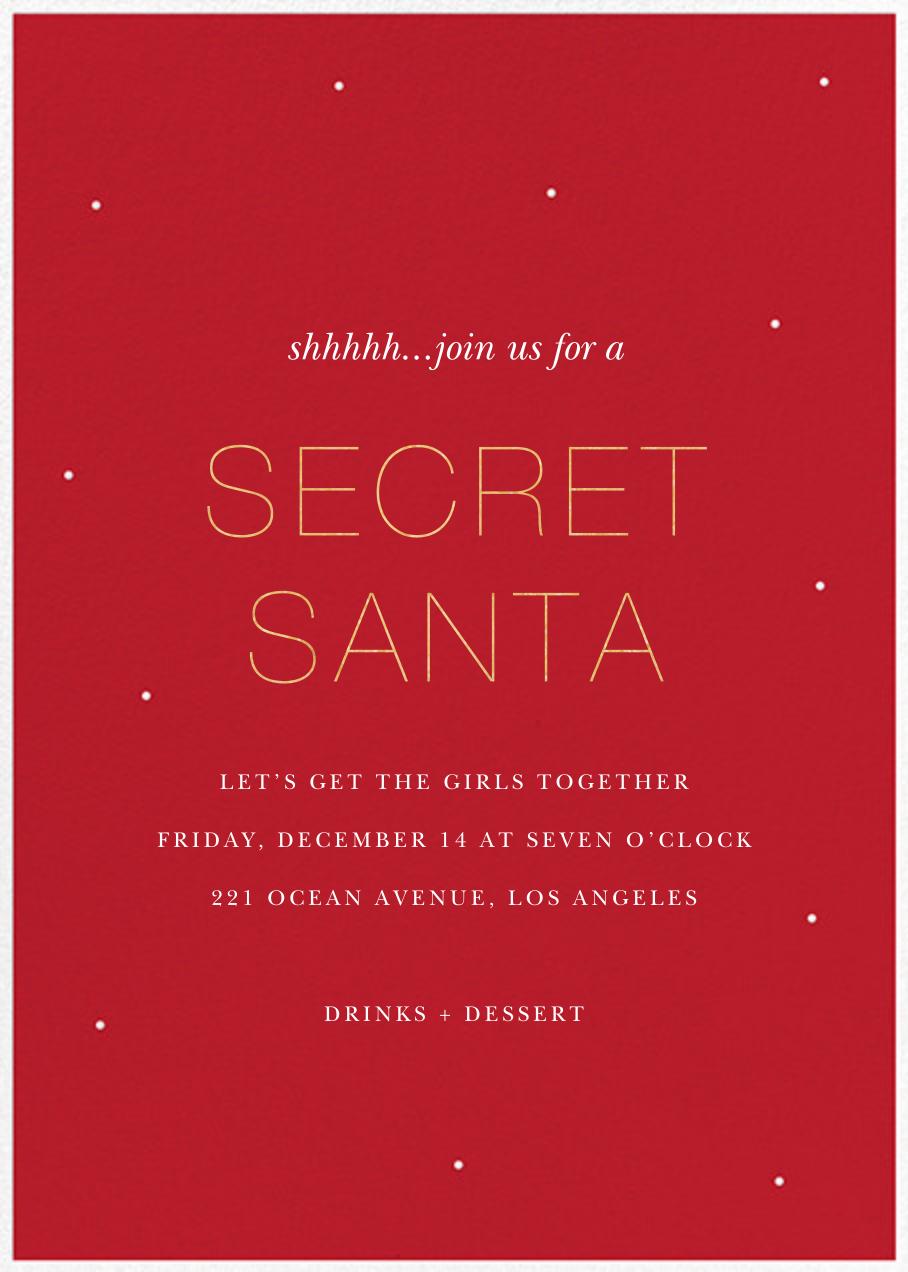 Not-so-Little Secret - Sugar Paper - Christmas party