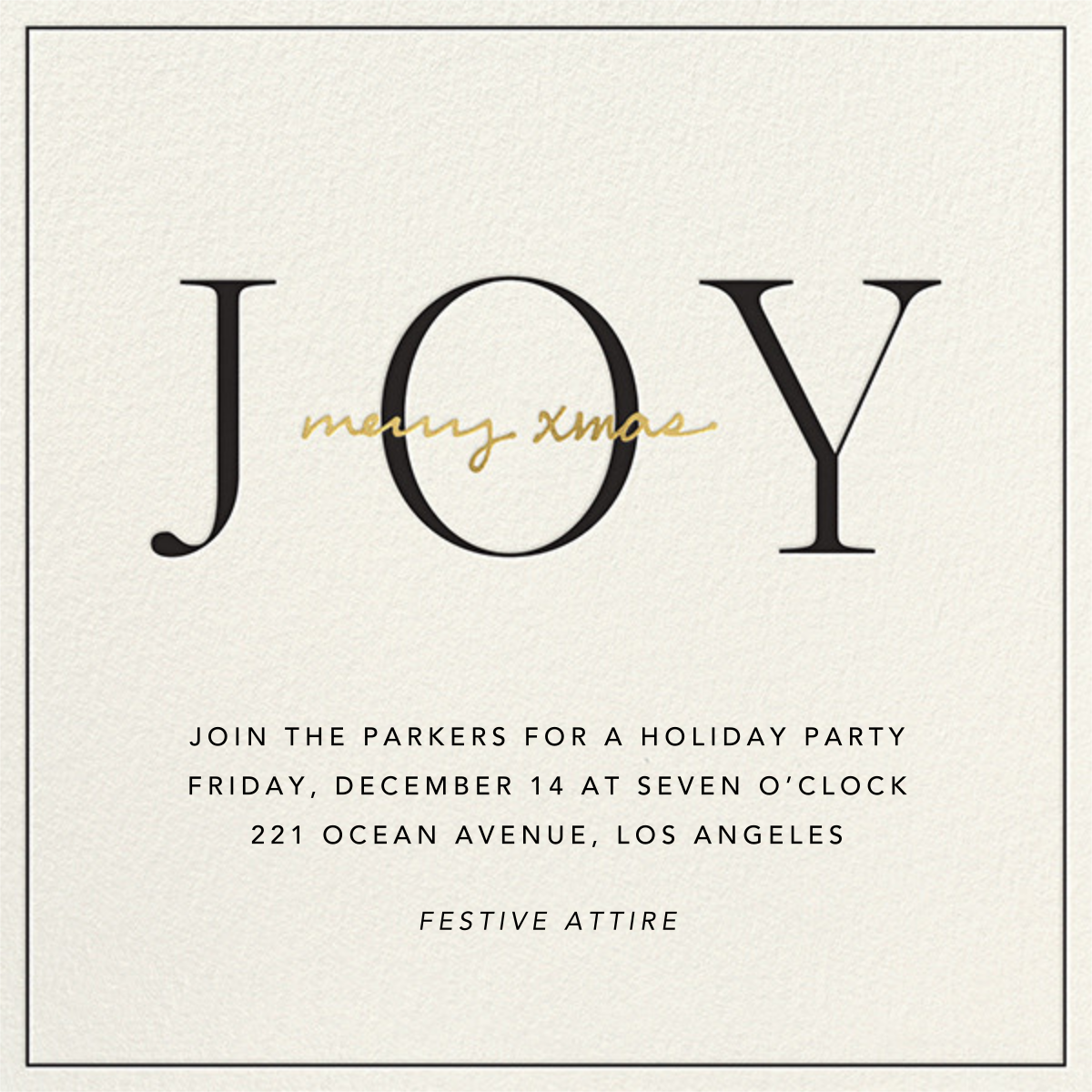 Ring in Joy - Sugar Paper - Christmas party