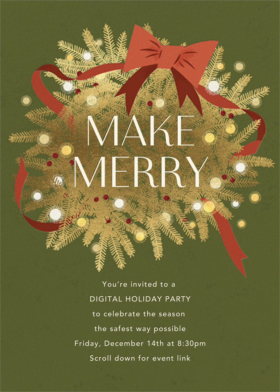 Twinkling and Tangled - Paperless Post - Christmas party
