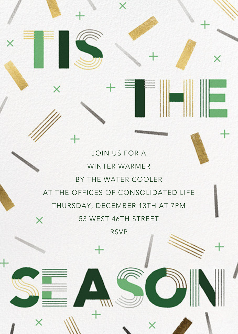 Confetti Flurry - Paperless Post - Company holiday party