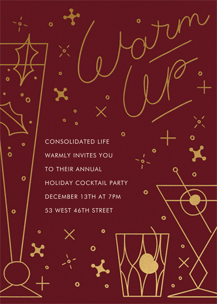 Winter Warmer - Paperless Post - Corporate invitations