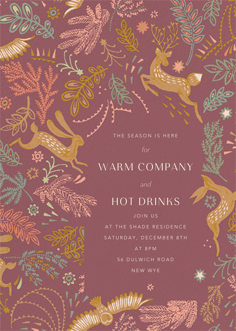 Folk Tails - Puce - Anthropologie - Holiday party