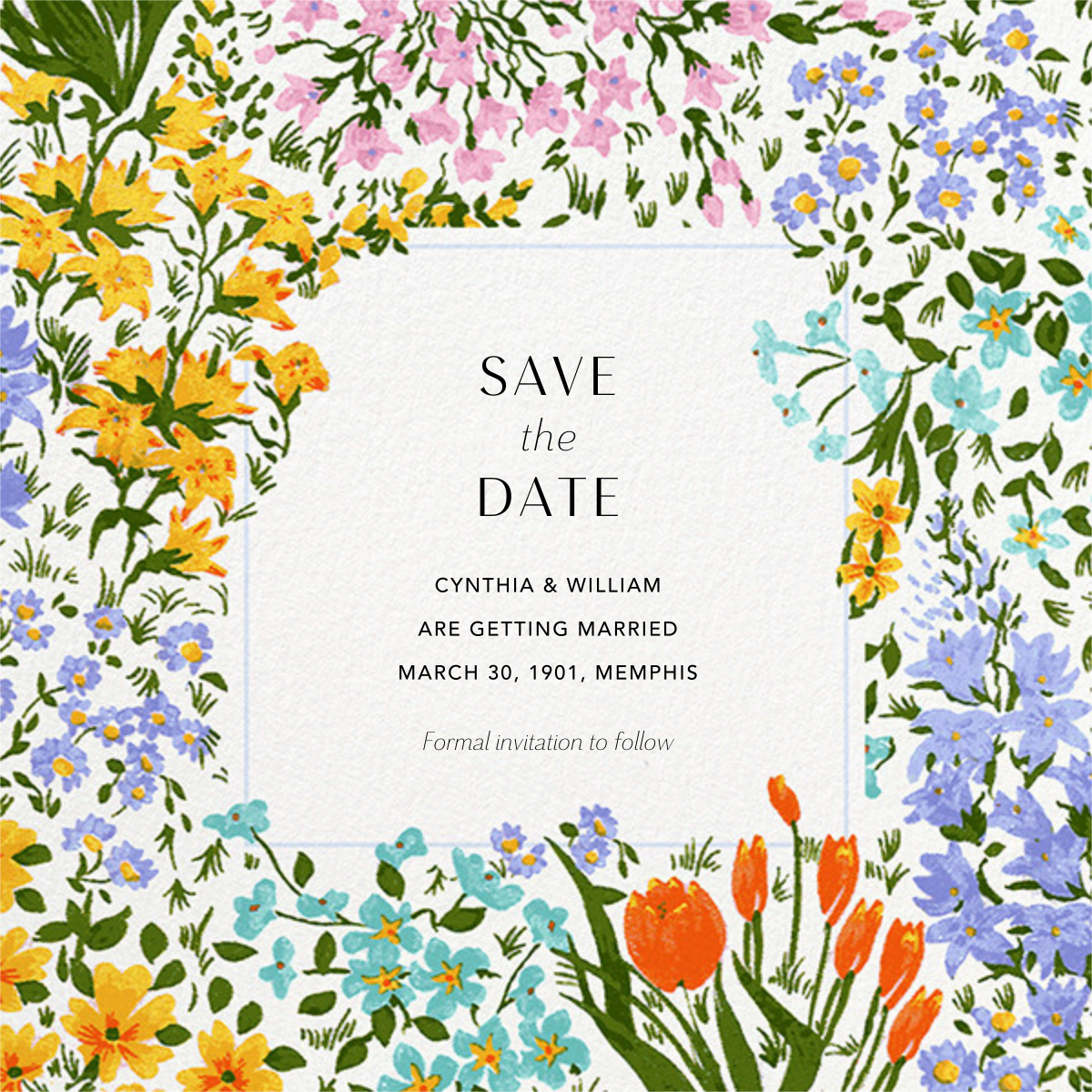 Moor Heather (Square) - Anthropologie - Save the date