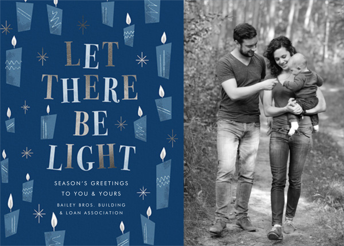 These Little Lights - Hanukkah - Paperless Post - Business holiday cards