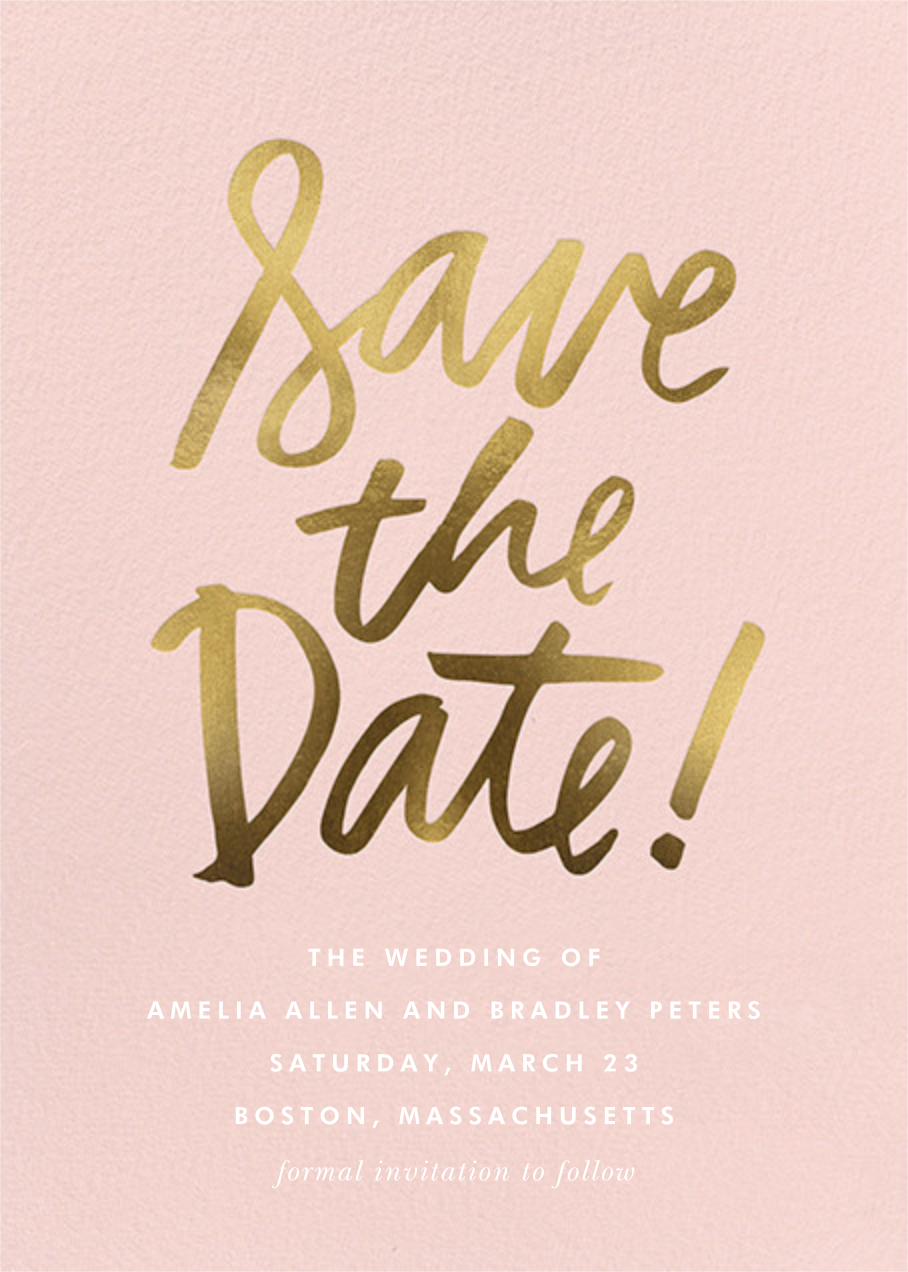 Signature Save the Date - Cheree Berry - Save the date