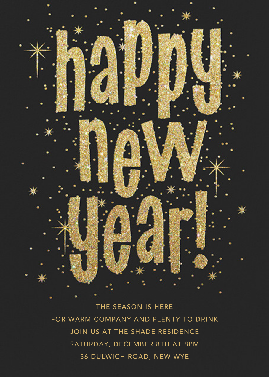 Glitter and Glee (New Years) - Paperless Post - New Year's Eve
