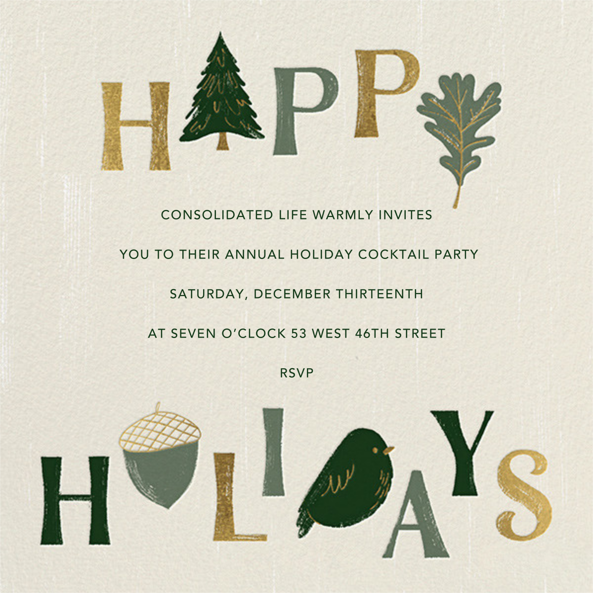 Forest Finds - Paperless Post - Corporate invitations
