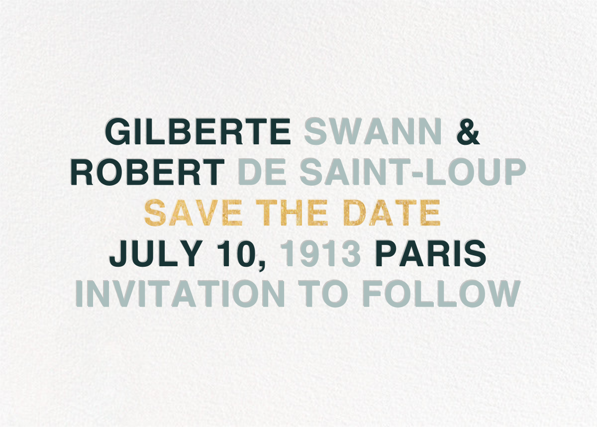 Libretto - Gray Green - Paperless Post - Save the date