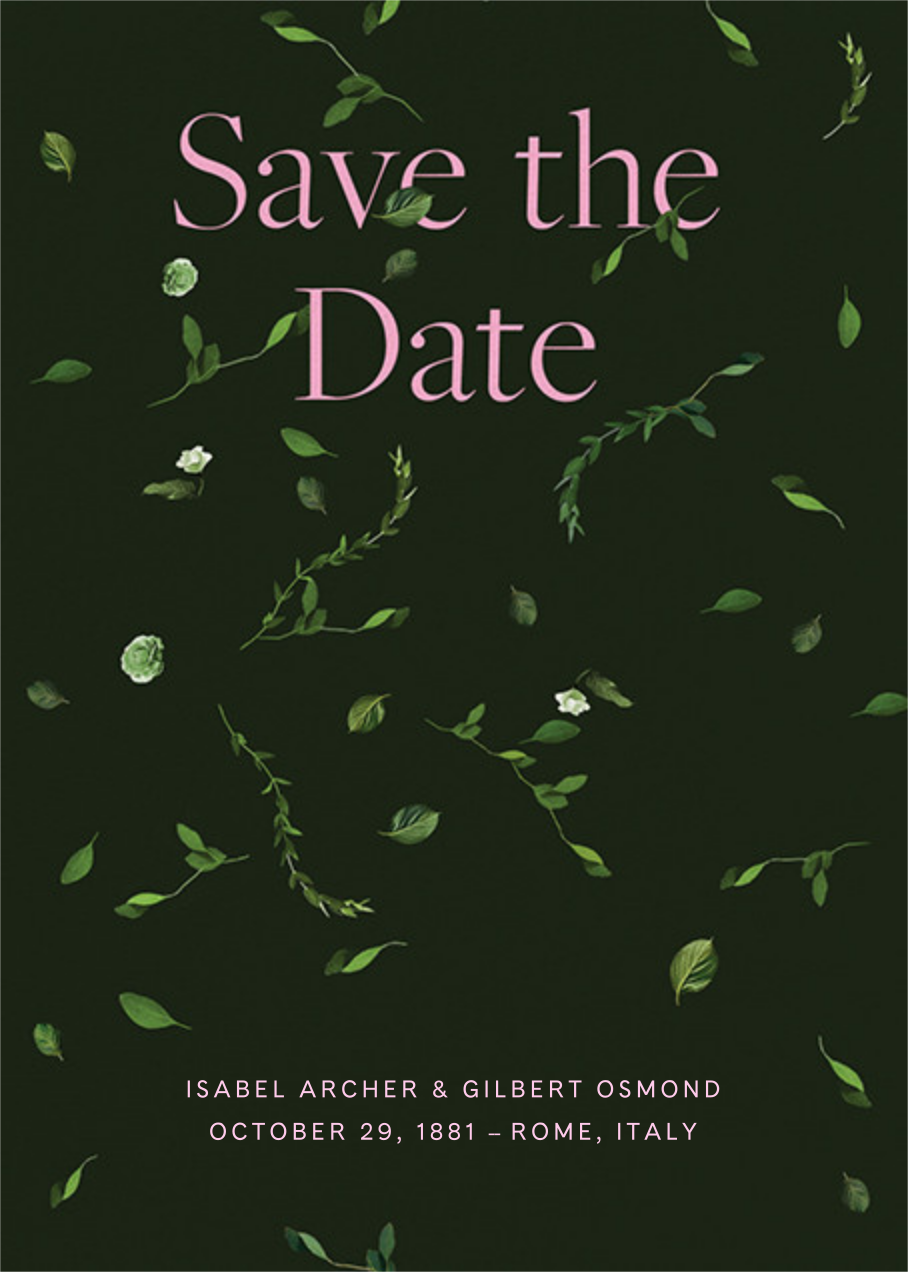 Selvatico - Hunter Green - Venamour - Save the date