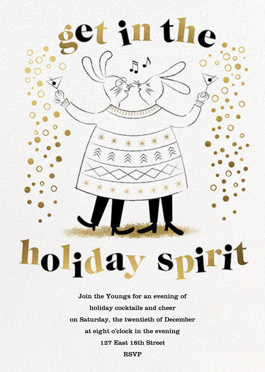 Sweater Twinset - His/His - Paperless Post - Holiday party