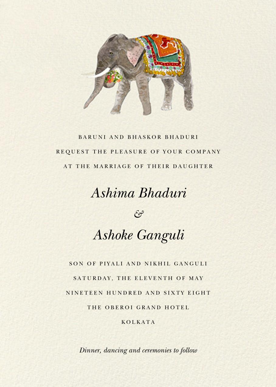 Baarat Elephant (Invitation) - Felix Doolittle - All