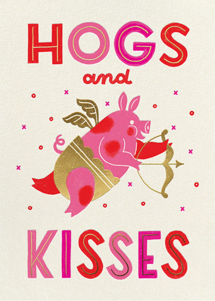 Hogs and Kisses - Paperless Post - Valentine's Day