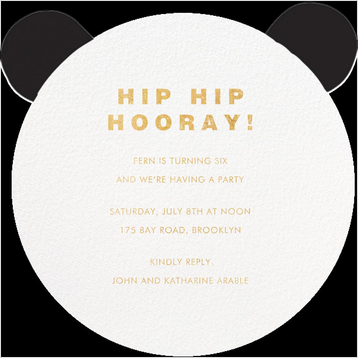 Panda to Me - Meri Meri - Kids' birthday - card back