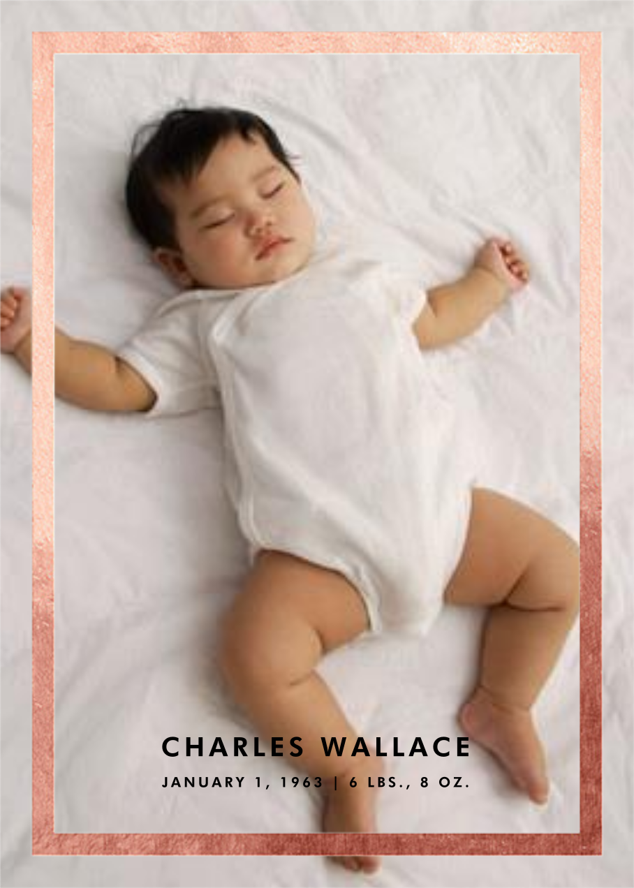 Perfect Portrait - Rose Gold - Paperless Post - Birth