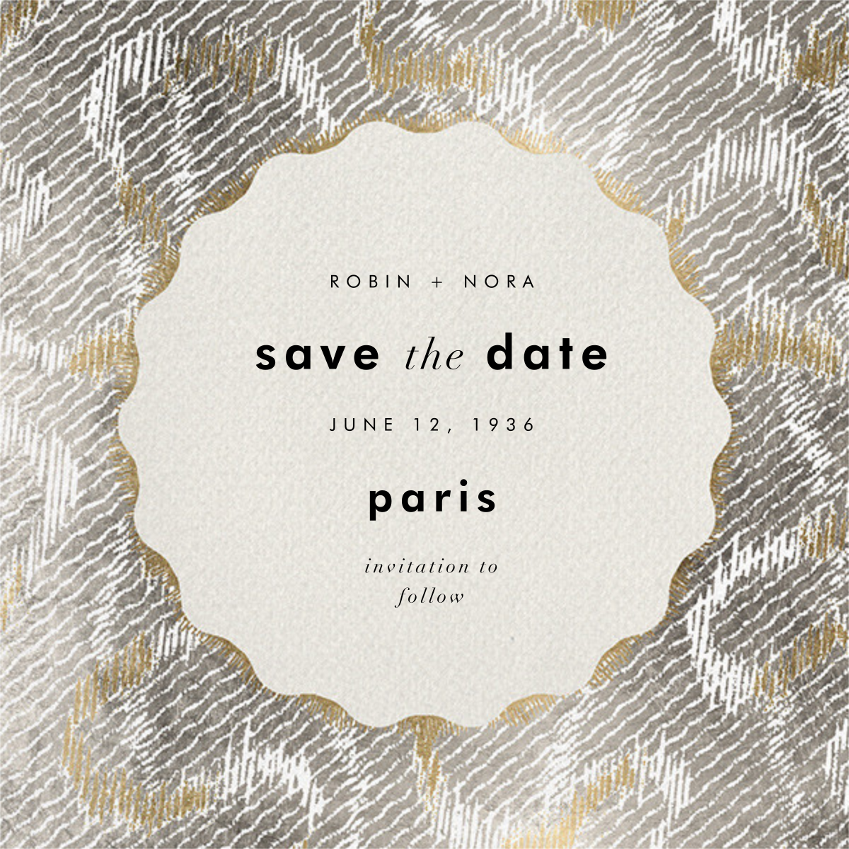 Coquette - Kelly Wearstler - Save the date