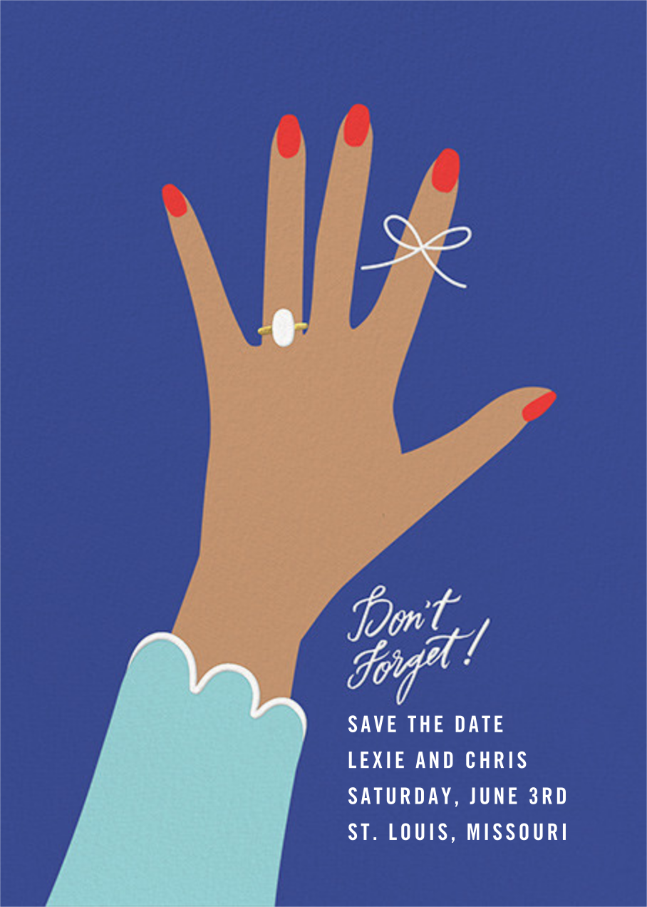 Put a String on It - Indigo - Cheree Berry - Save the date
