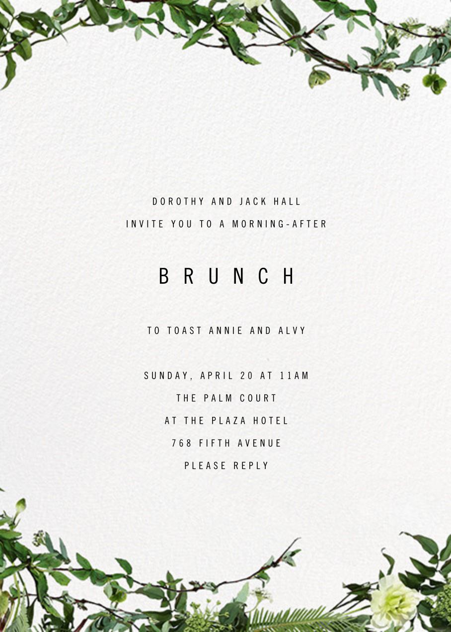 Chincoteague Vine - Paperless Post - Wedding brunch