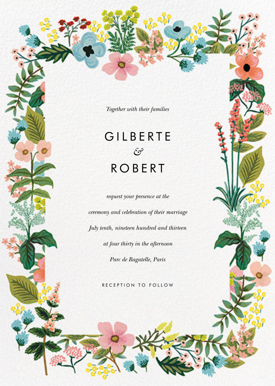 Spring Gathering (Invitation) - White - Rifle Paper Co. - All