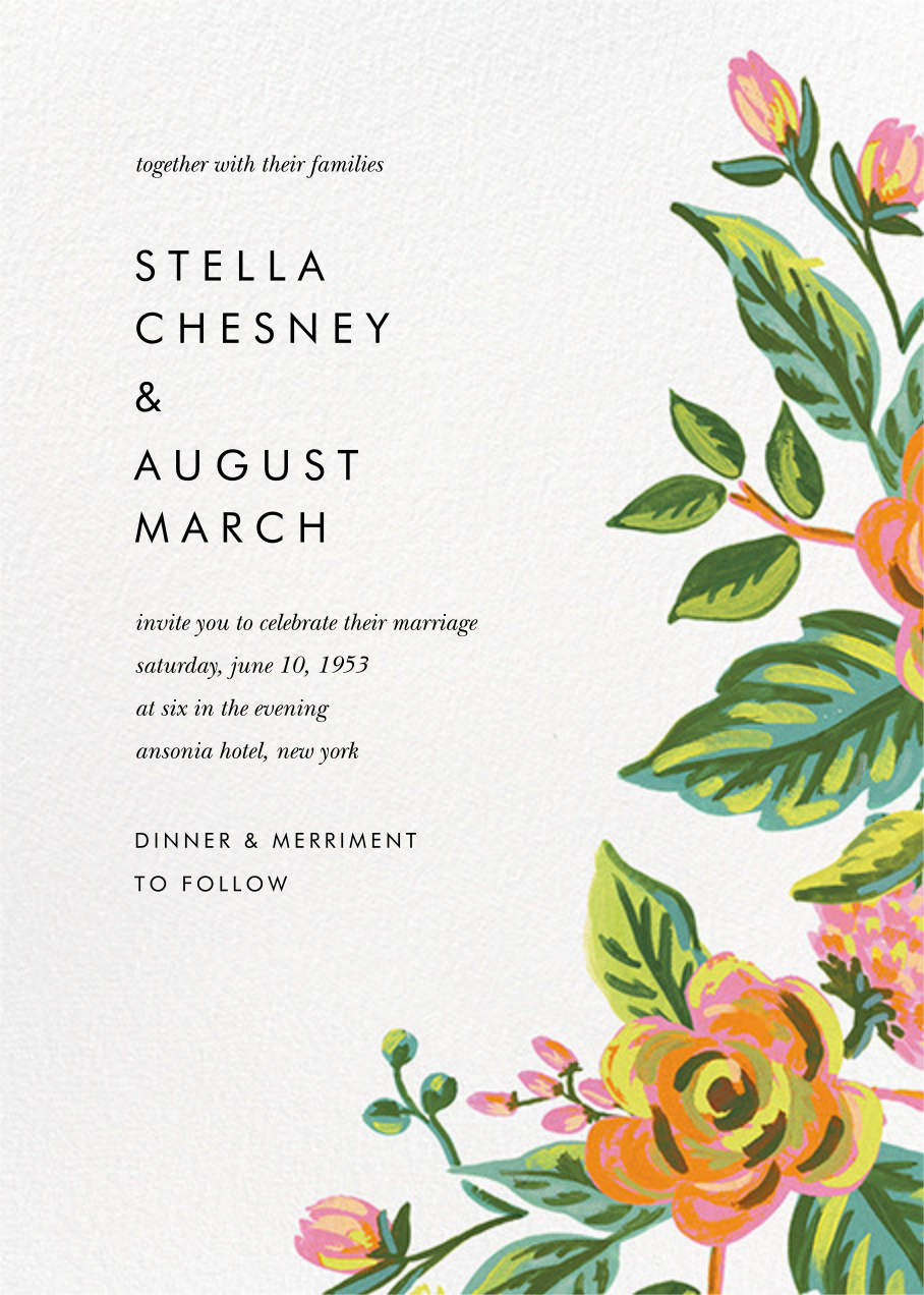 Rainbow Rose (Invitation) - Rifle Paper Co. - All