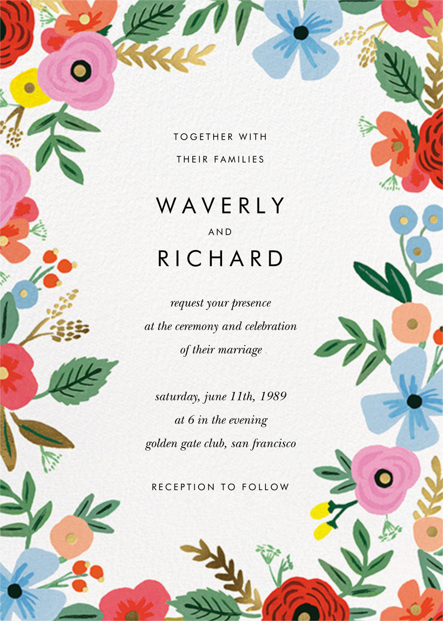 Stitched Bouquet (Invitation) - Rifle Paper Co. - All