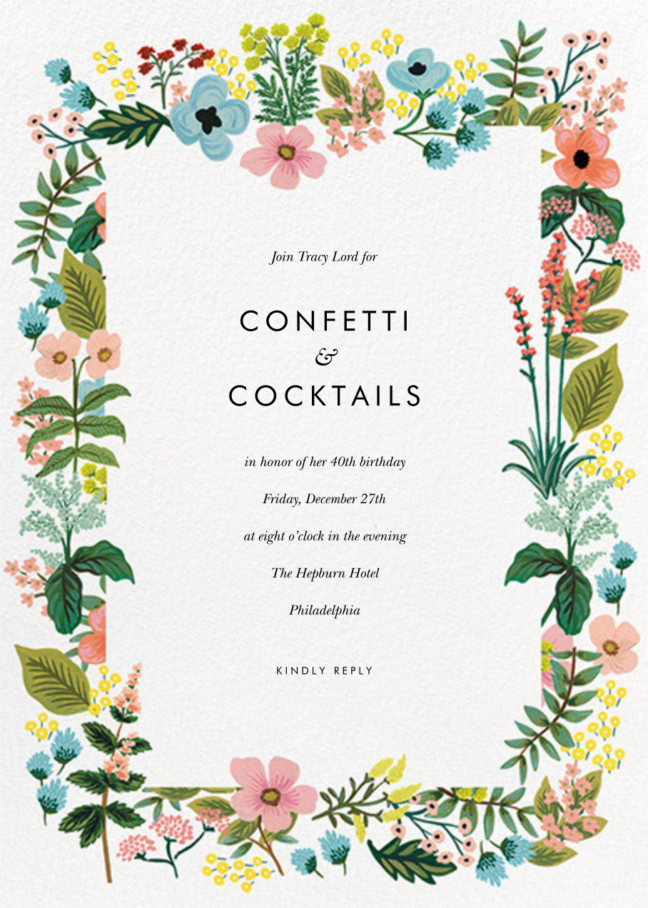 Spring Gathering - White - Rifle Paper Co. - Adult birthday