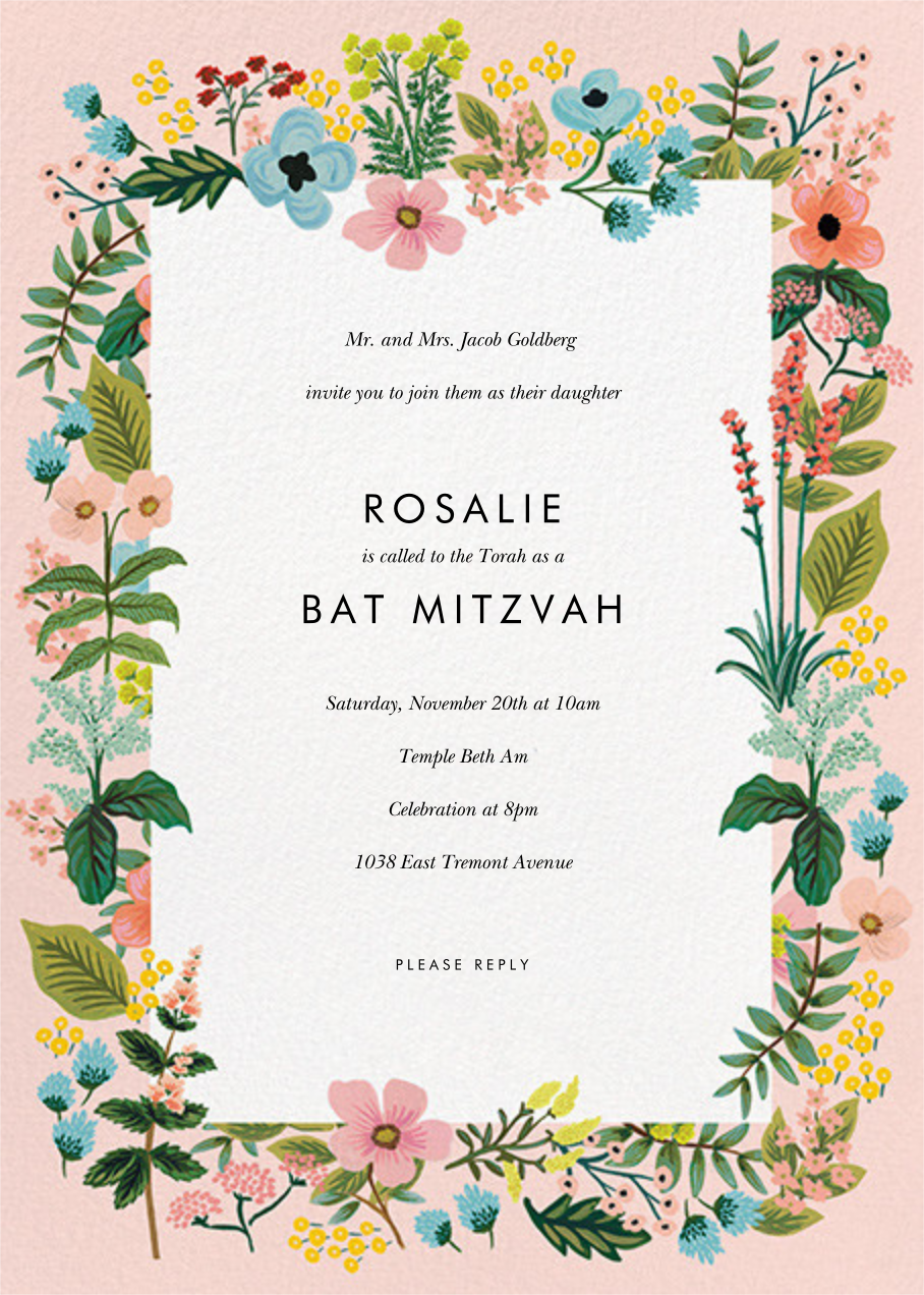 Spring Gathering - Meringue - Rifle Paper Co. - Bat and bar mitzvah