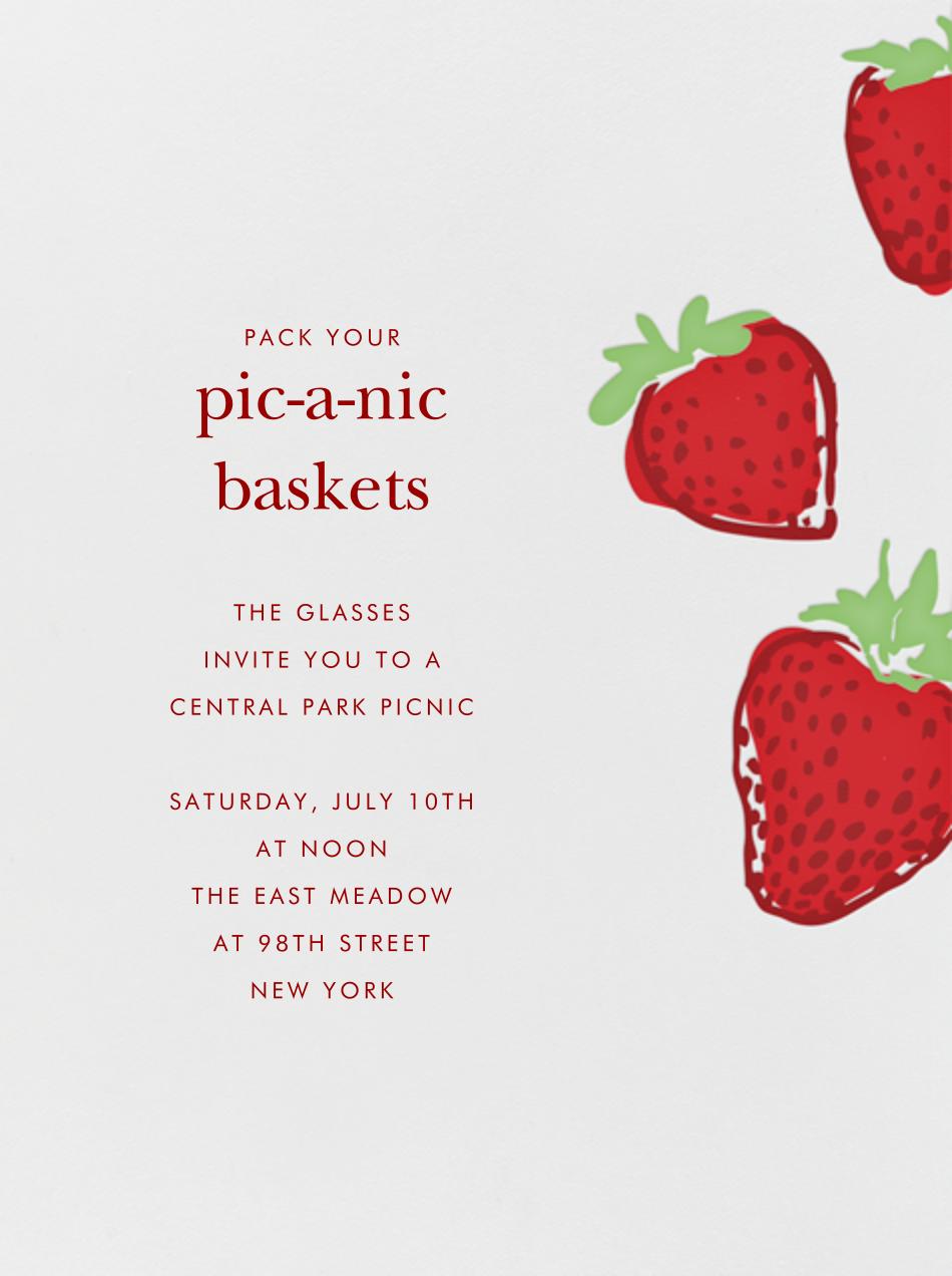 Strawberries - Paperless Post - Summer entertaining