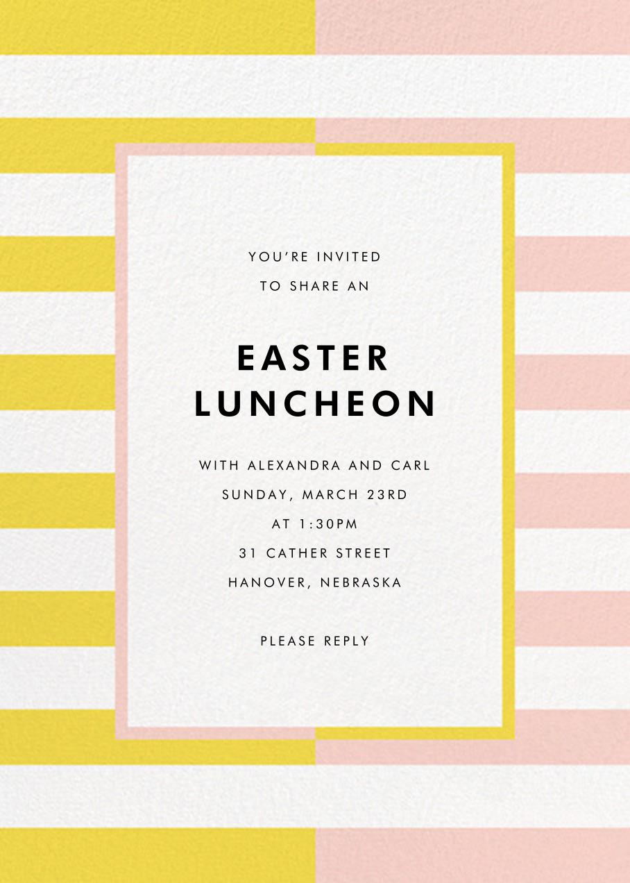 Colorblocked Stripes - Yellow/Pavlova - kate spade new york - Easter