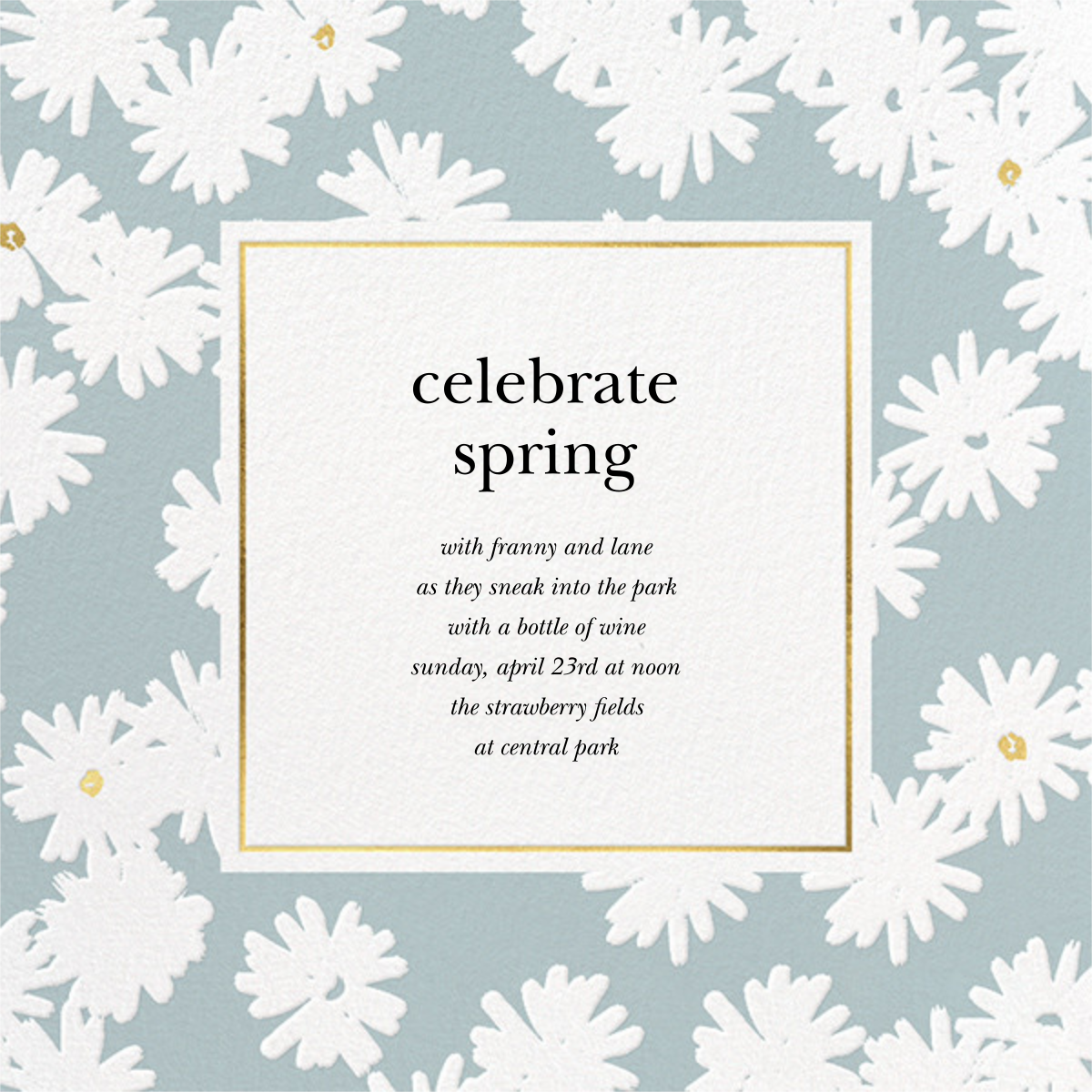 Embossed Daisies - Mint - kate spade new york - Spring entertaining