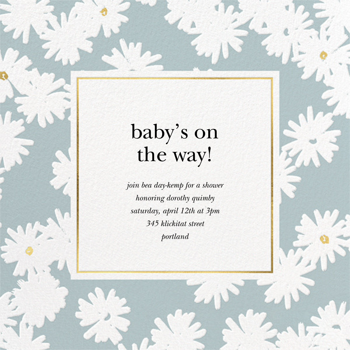 Embossed Daisies - Mint - kate spade new york - Baby shower