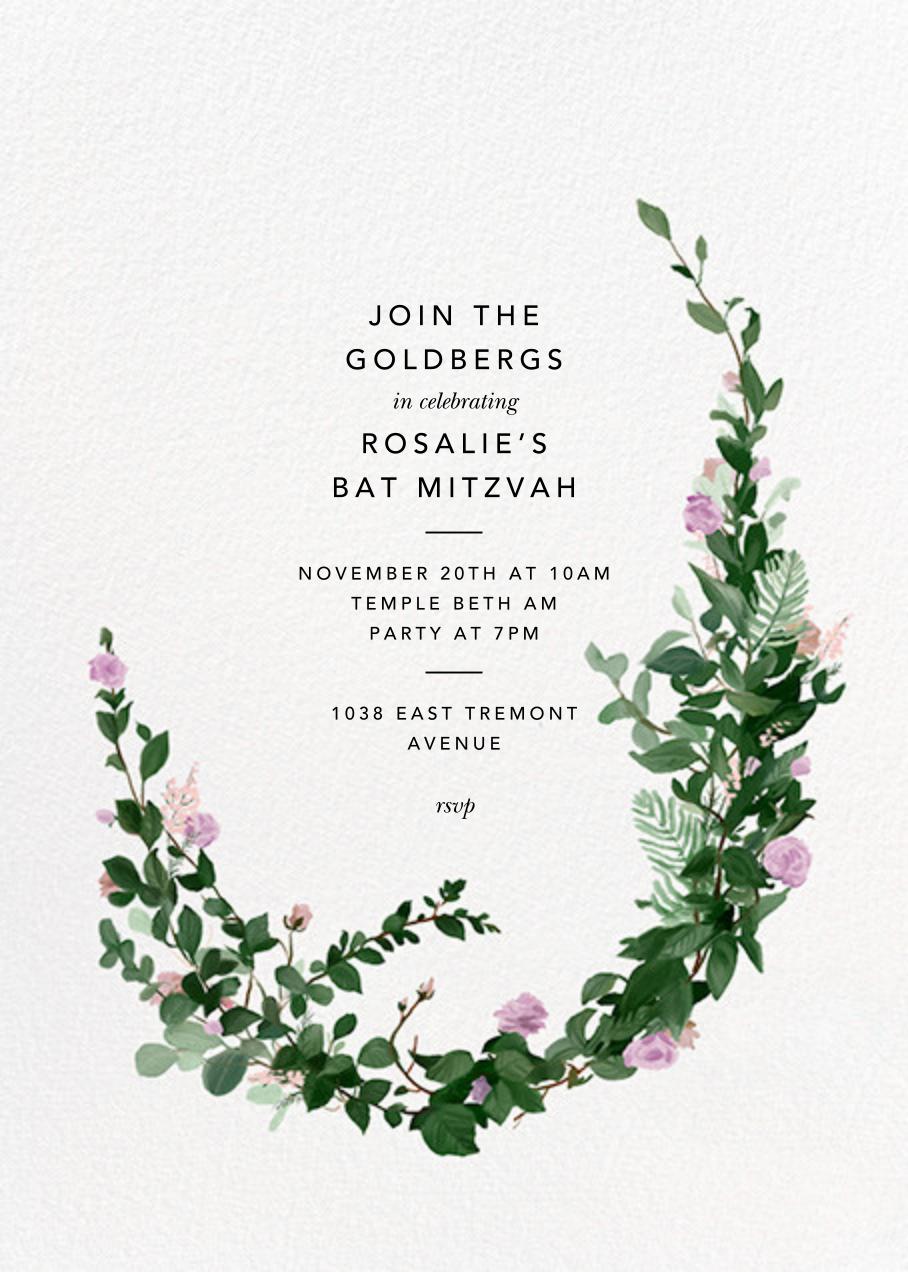 Rosedal - Lilac - Paperless Post - Bat and bar mitzvah