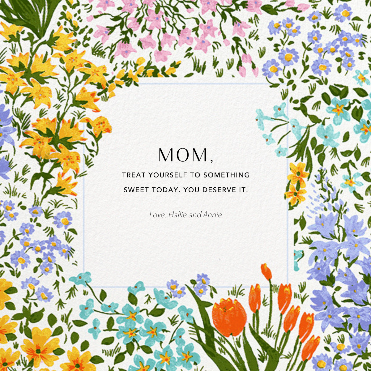 Moor Heather Photo - Anthropologie - Mother's Day - card back