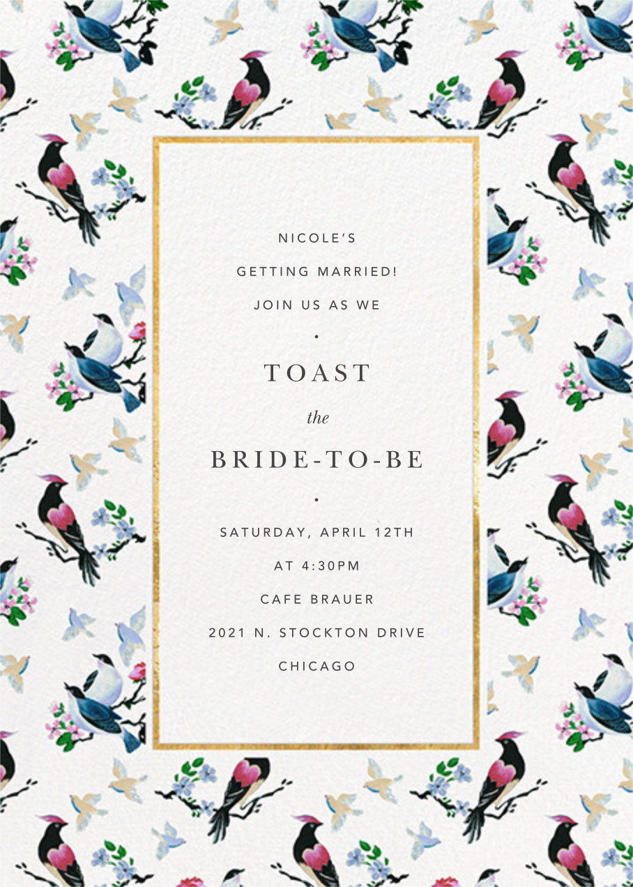 Of a Feather - Anthropologie - Bridal shower