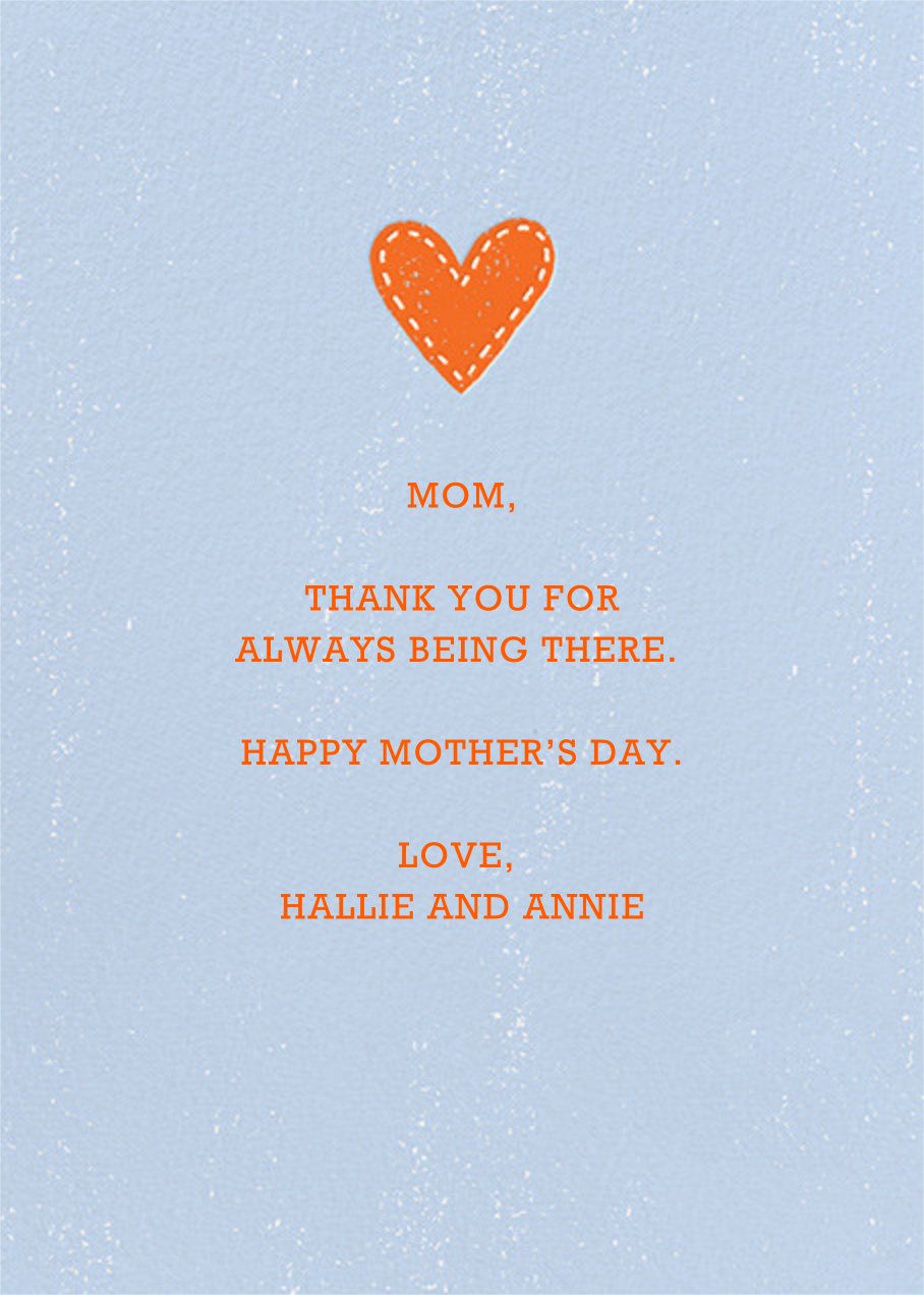 Good Genes - Paperless Post - Mother's Day - card back