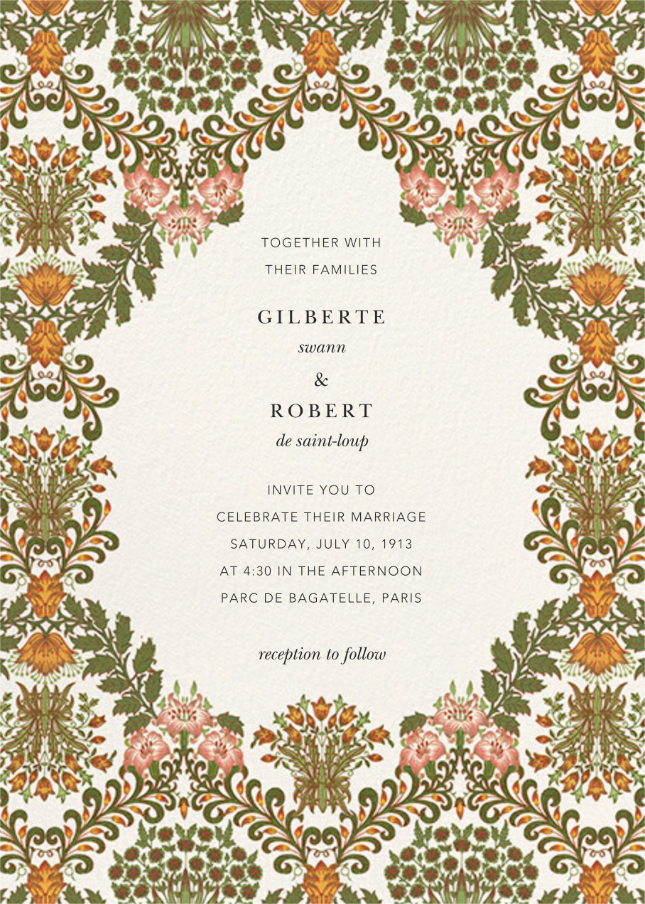 Floral Damask (Invitation) - Oscar de la Renta - All