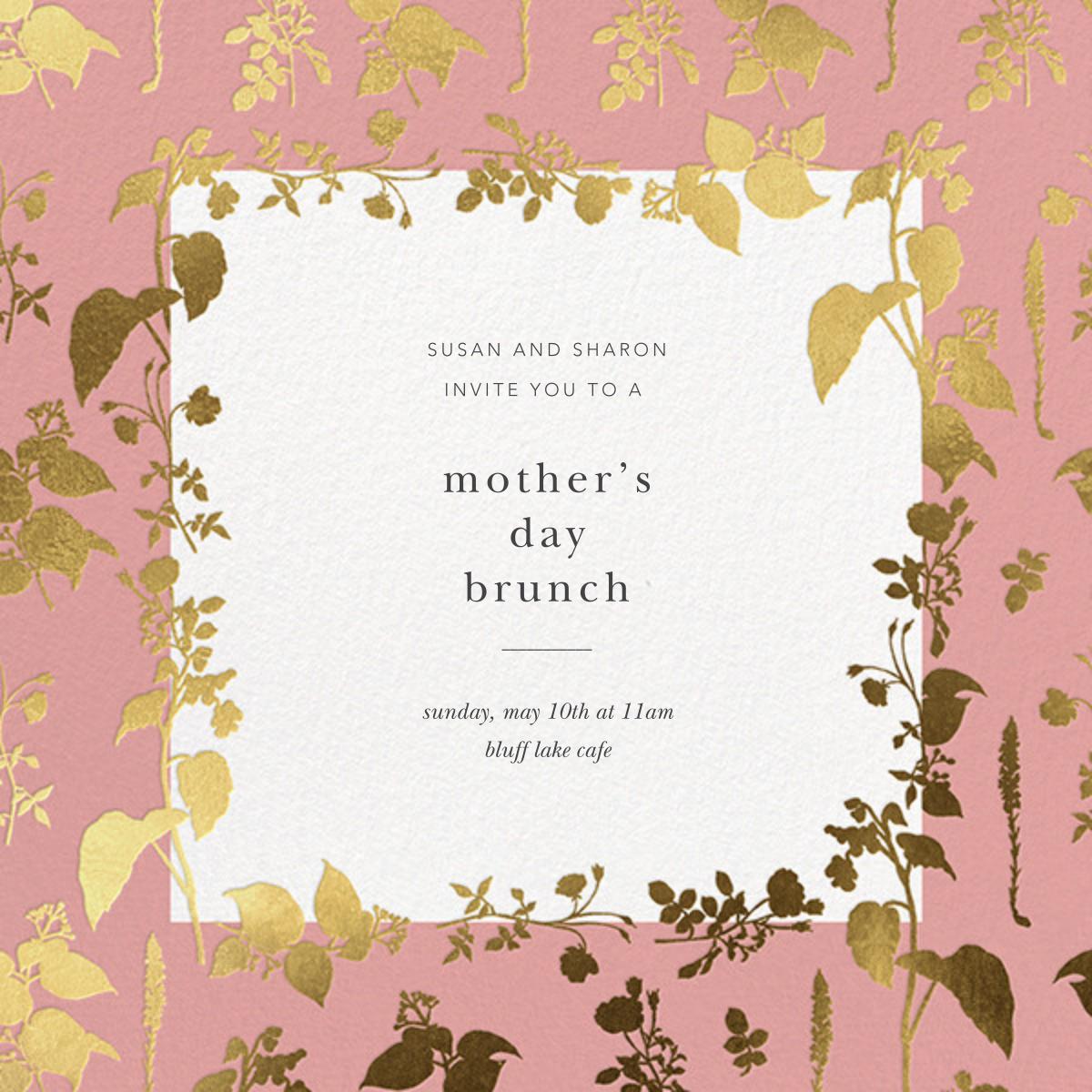 Stamped Greenery - Blossom - Oscar de la Renta - Mother's Day