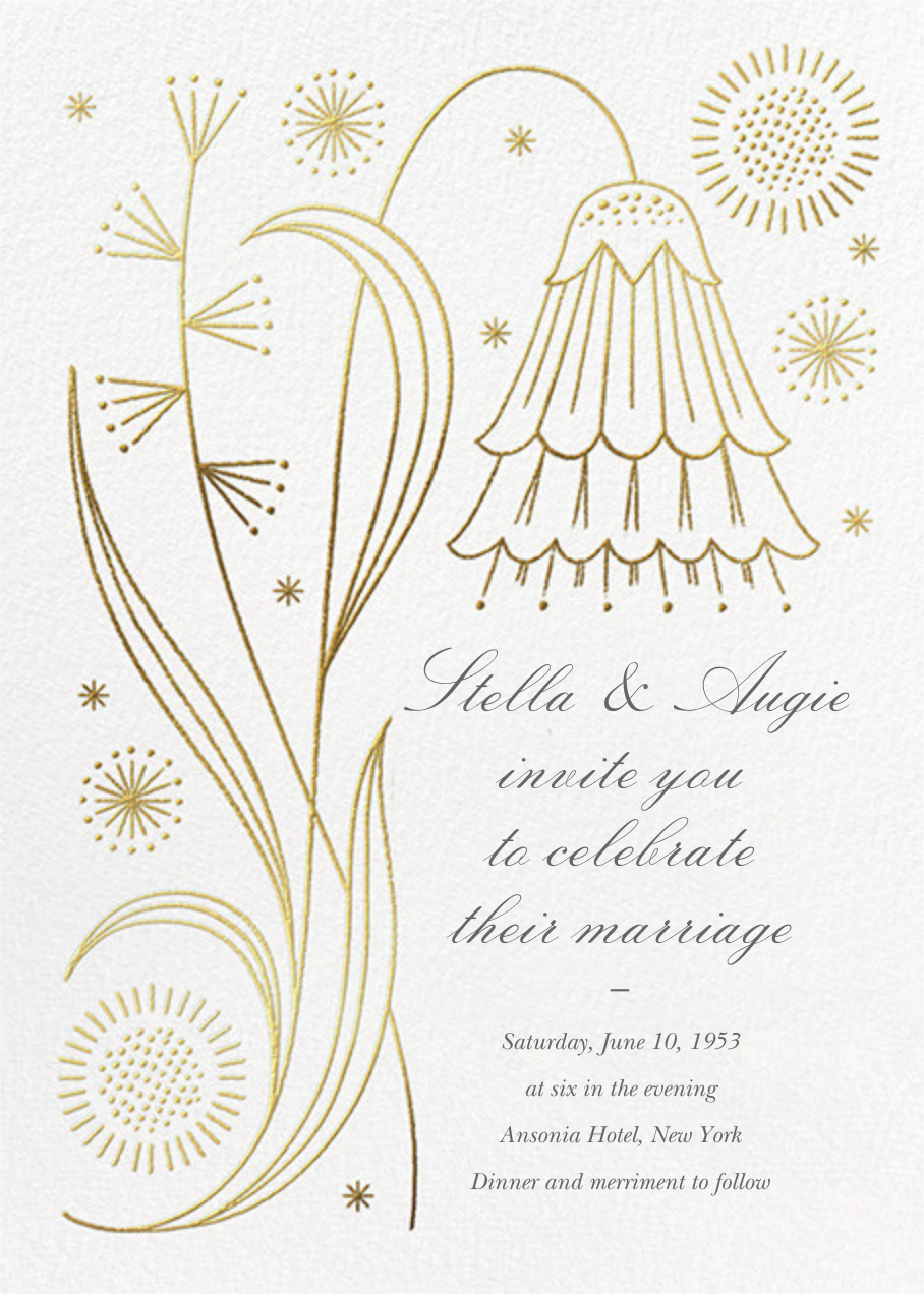May Belle (Invitation) - Gold - Paperless Post - All