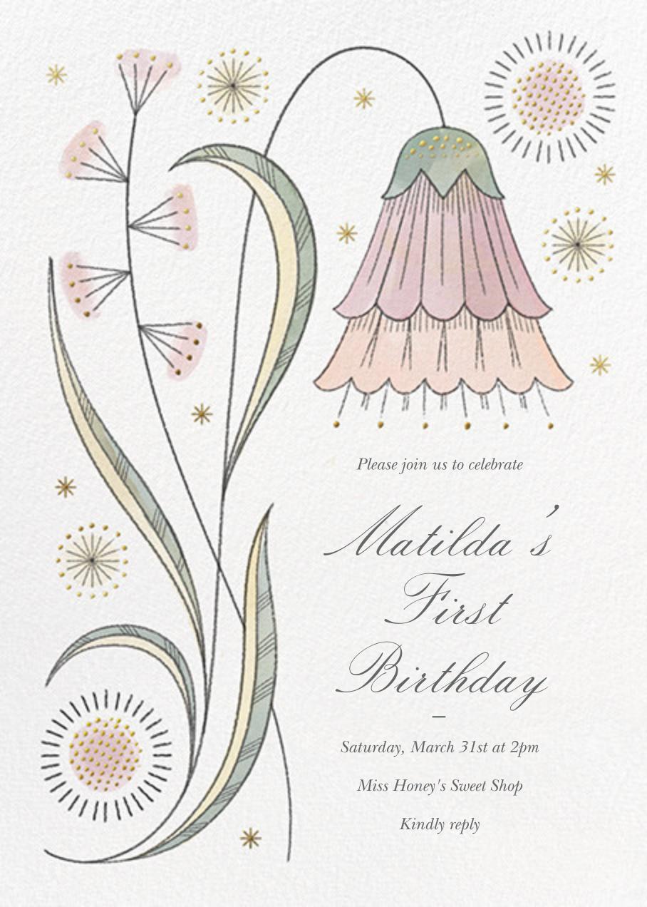 May Belle (Invitation) - Tea Rose - Paperless Post - 1st birthday