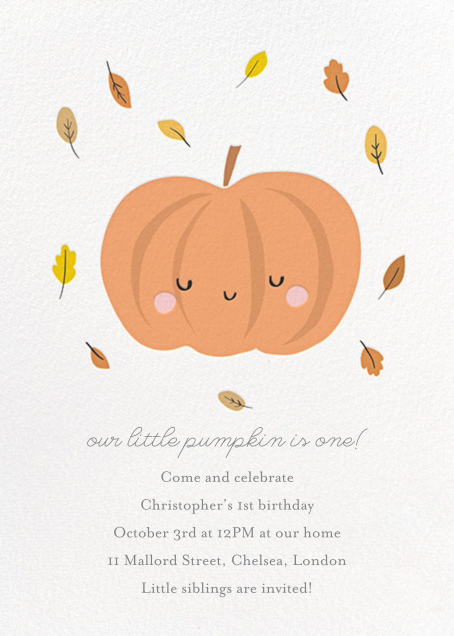Little Pumpkin - Little Cube - Kids' birthday
