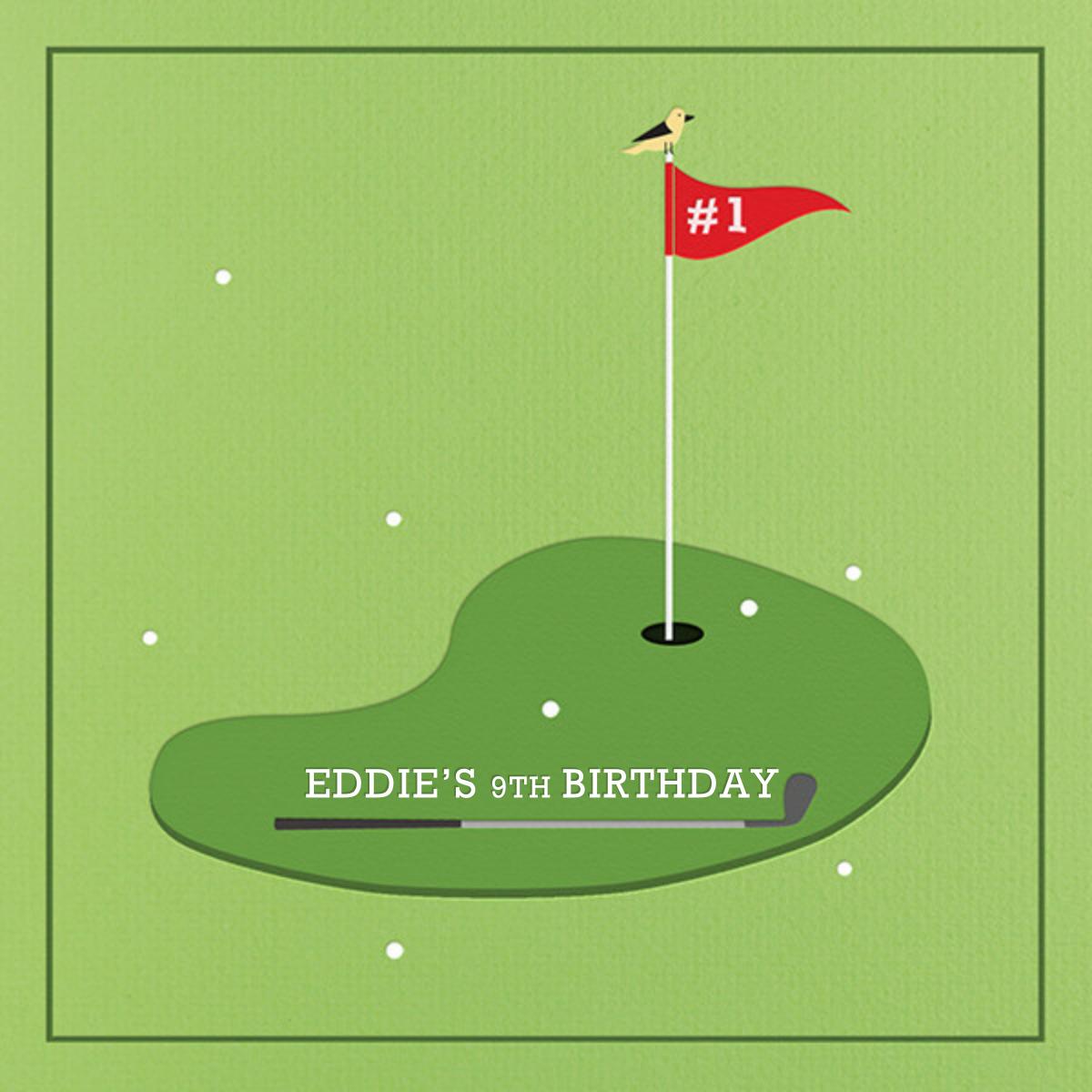 Golf Ace - Paperless Post - Kids' birthday