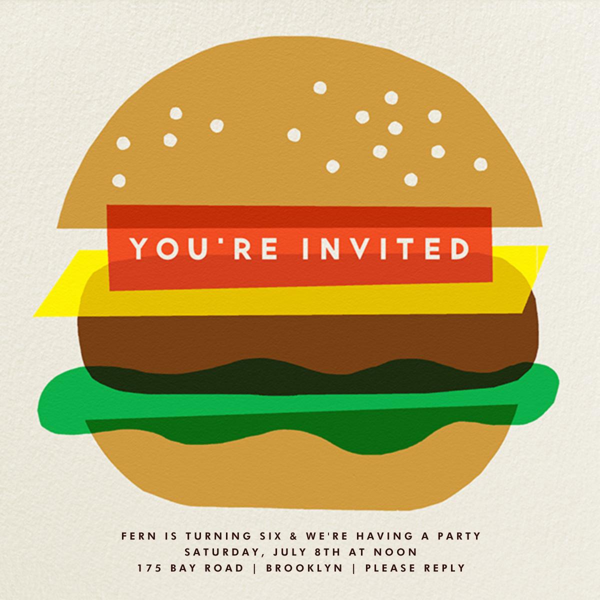 Burger Beer - The Indigo Bunting - Kids' birthday