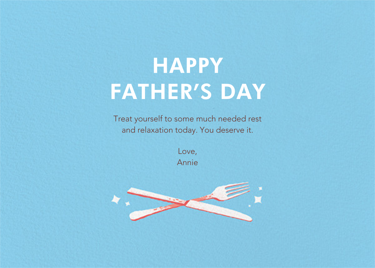 Treat Your Dad - Paperless Post - Father's Day - card back
