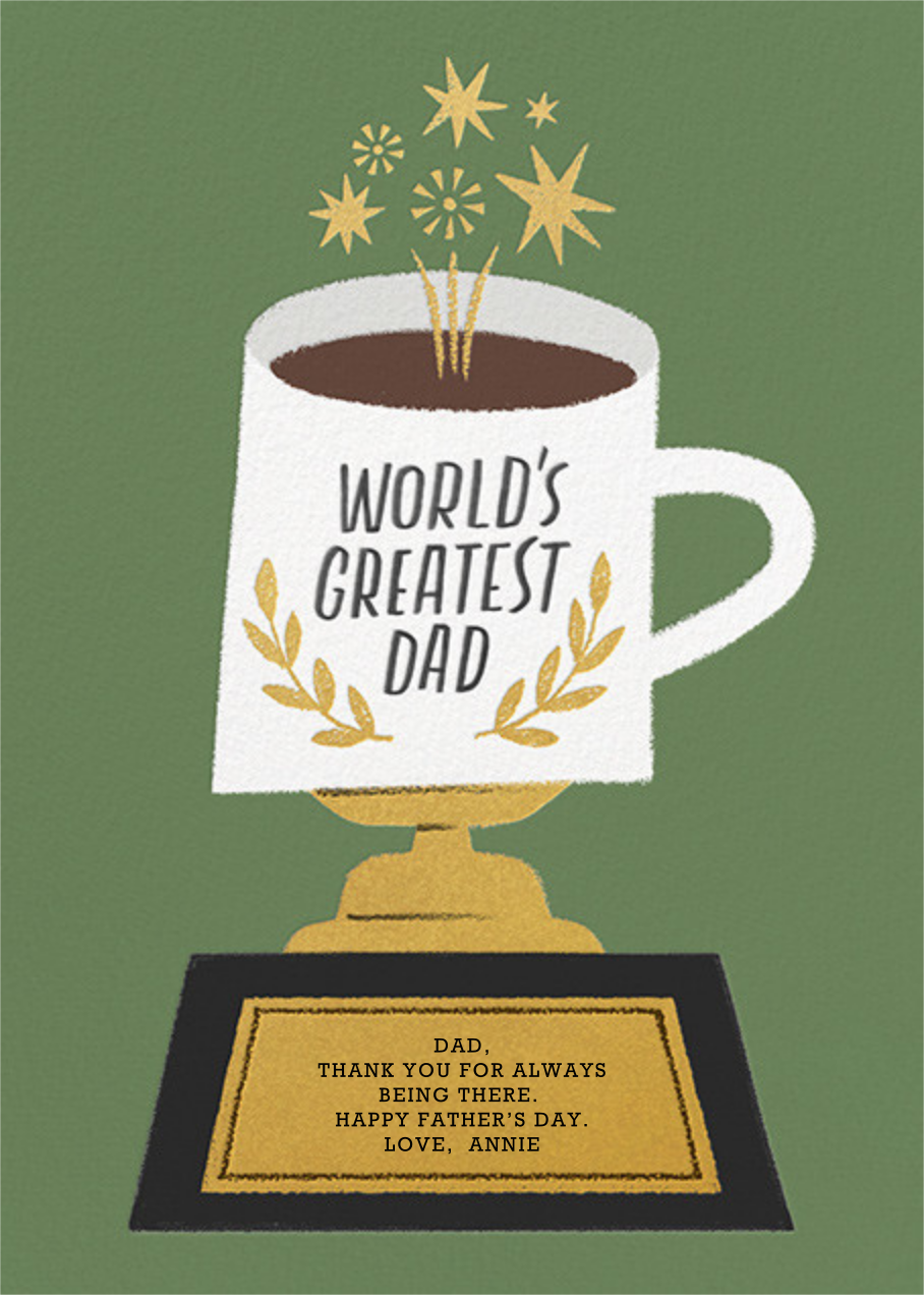 Trophy Mug - Paperless Post - Father's Day