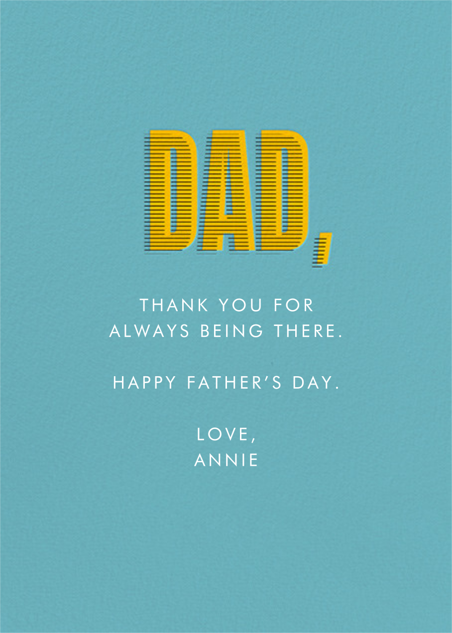 Earned Your Stripes - Bondi - Paperless Post - Father's Day - card back