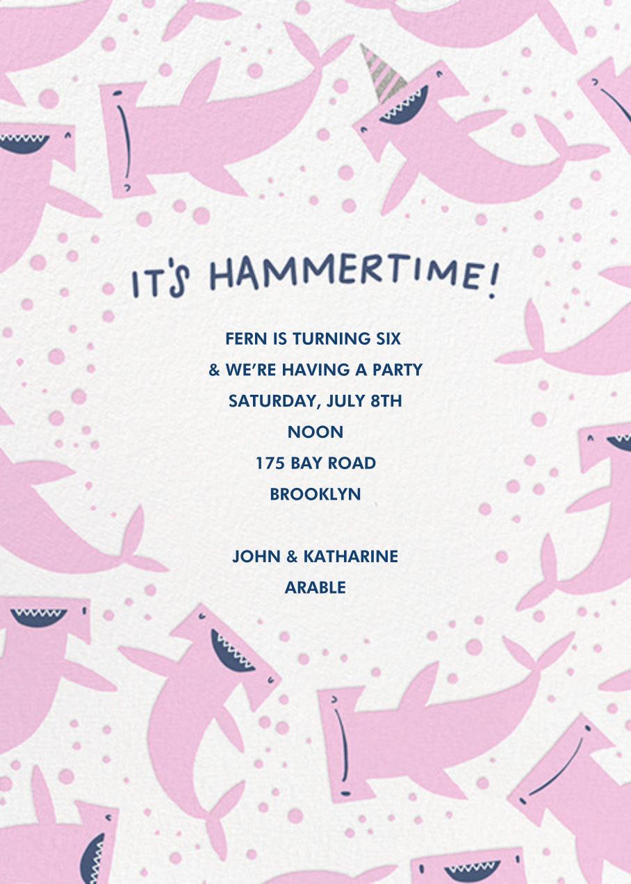 Hammertime (Invitation) - Hello!Lucky - Kids' birthday