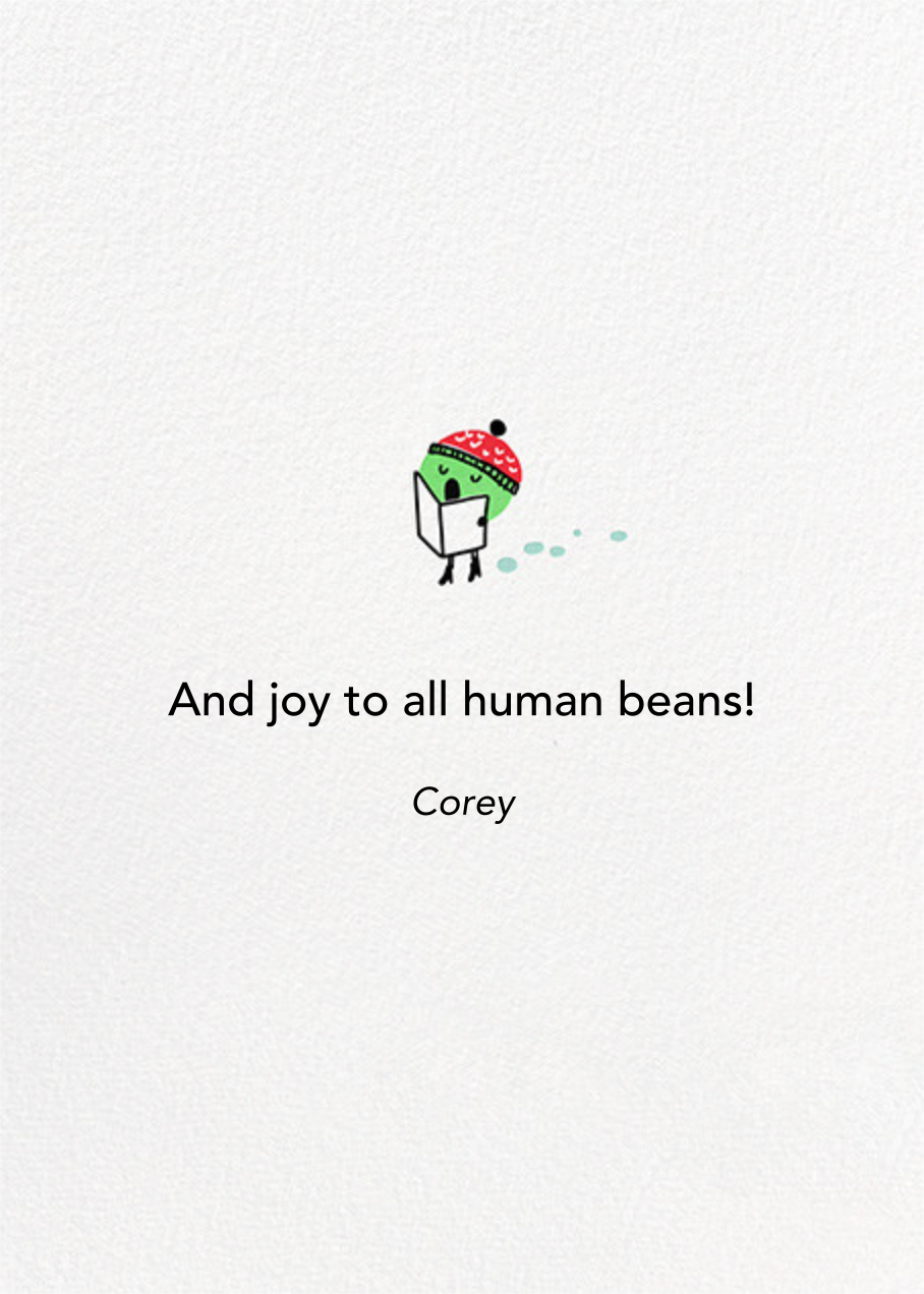 A Peasful Chorus  - Hello!Lucky - Christmas - card back