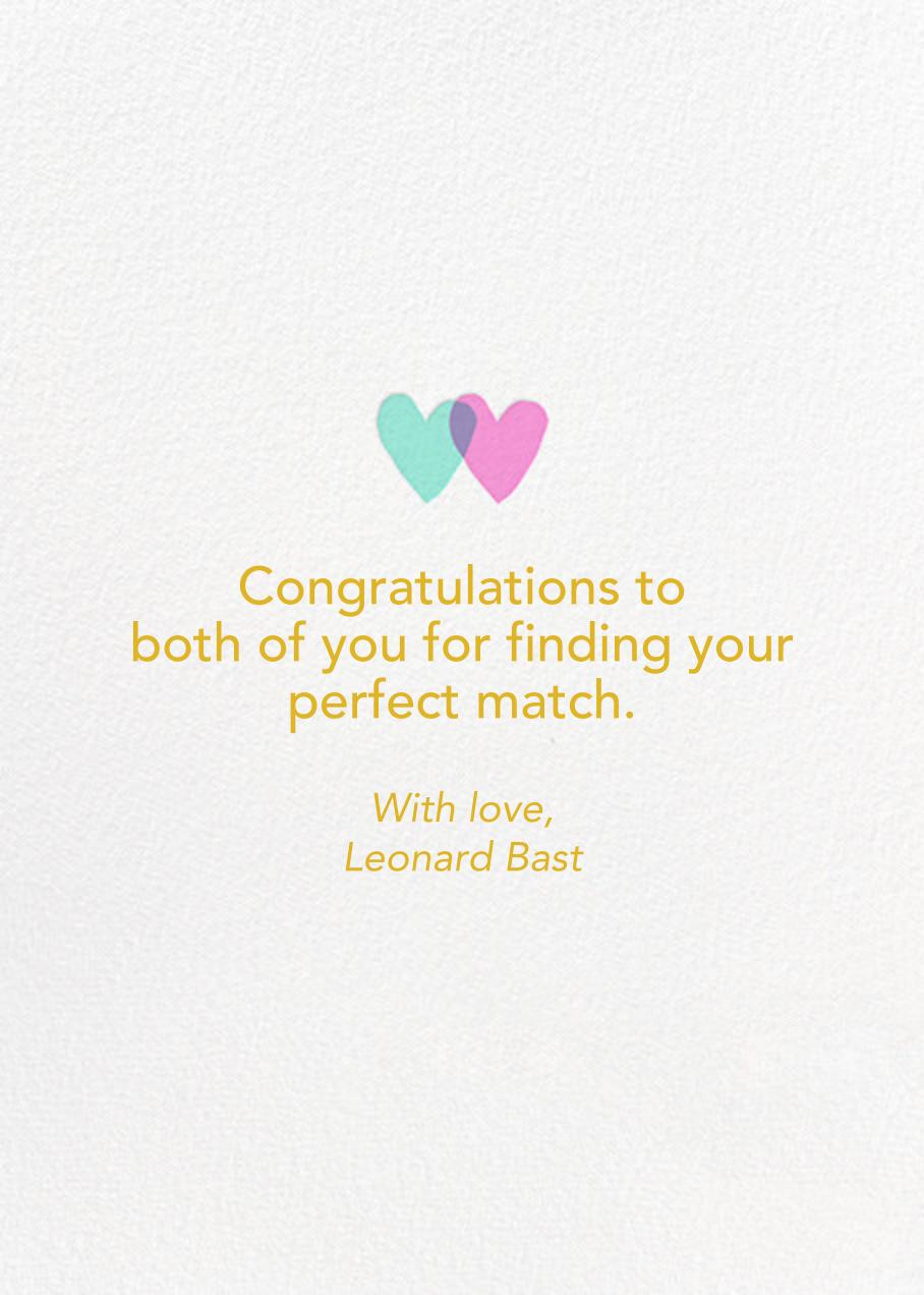 Rainbow Heart - Hello!Lucky - Congratulations - card back