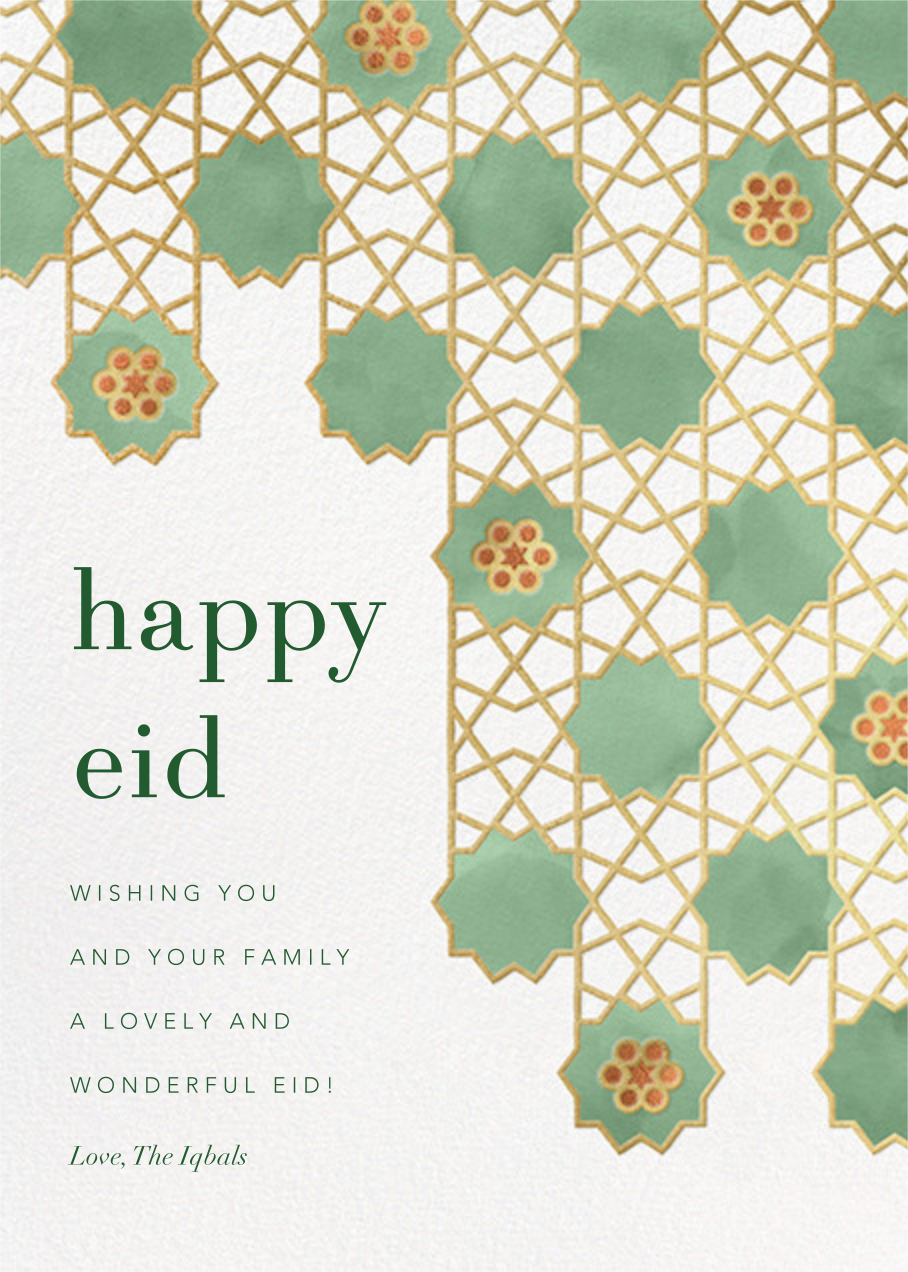 Happy Eid (Greeting) - Paperless Post - Ramadan and Eid